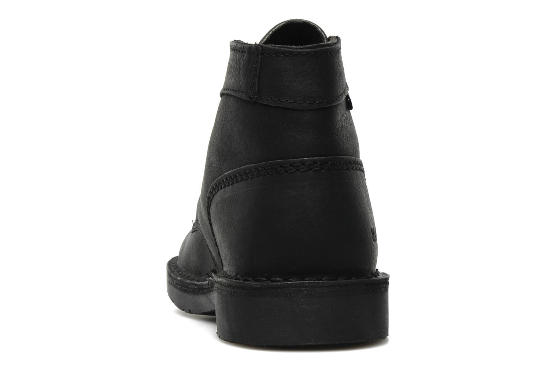 Chaussures à lacets Kickers Kick Col Perm Noir vue droite