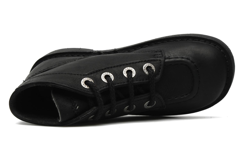 Chaussures à lacets Kickers Kick Col Perm Noir vue gauche
