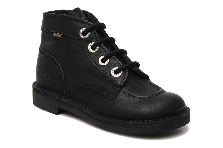 Chaussures à lacets Kickers Kick Col Perm Noir vue détail/paire