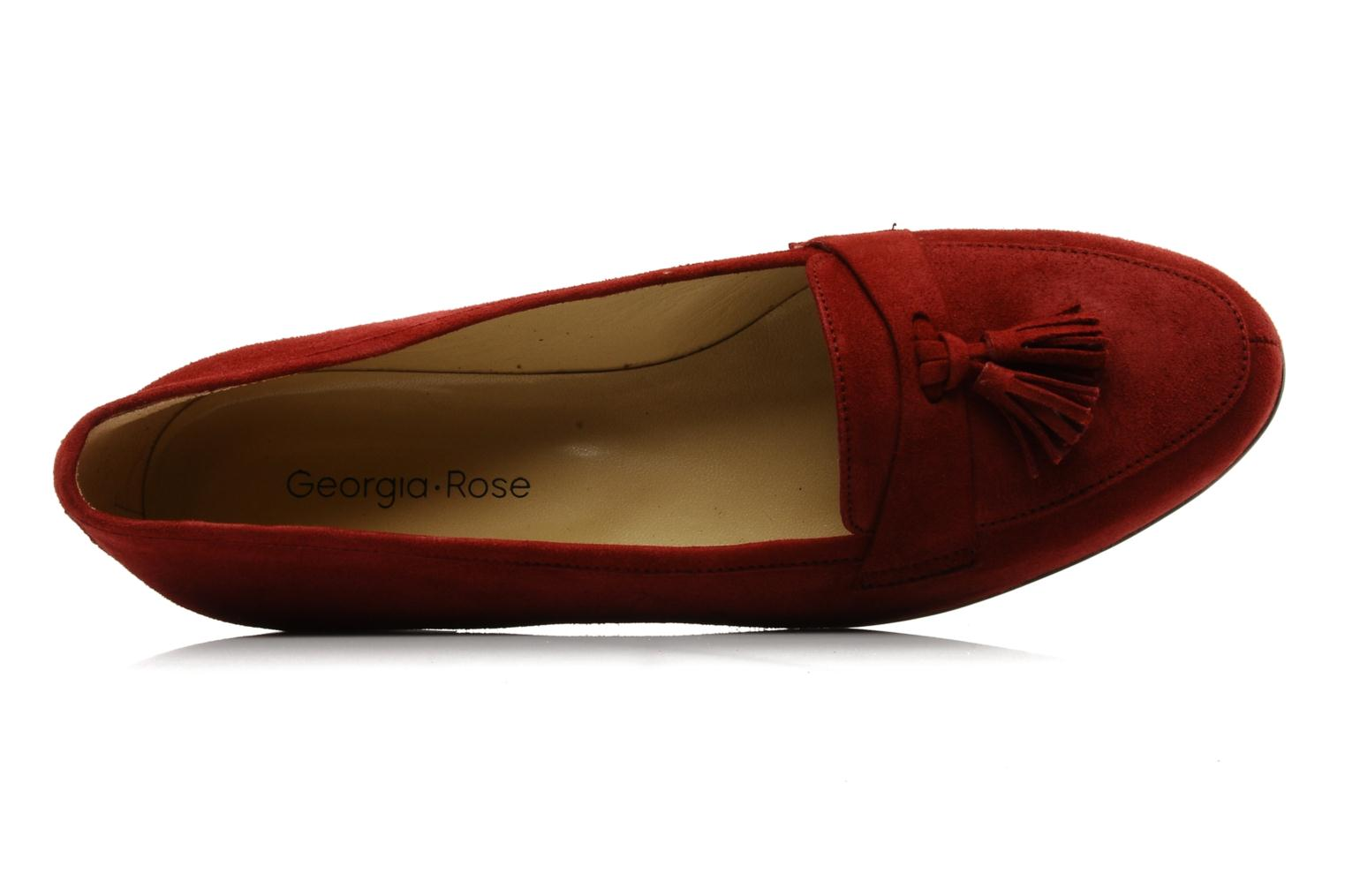 Loafers Georgia Rose Voxe Burgundy view from the left