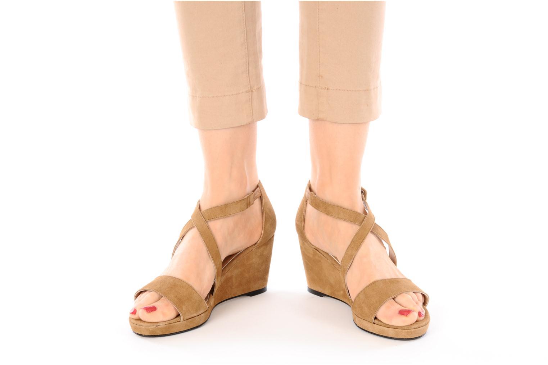 Sandales et nu-pieds Valensi Vira Beige vue bas / vue portée sac