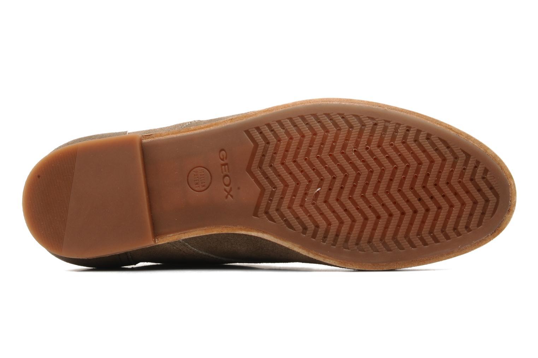 Chaussures à lacets Geox U progress A Beige vue haut