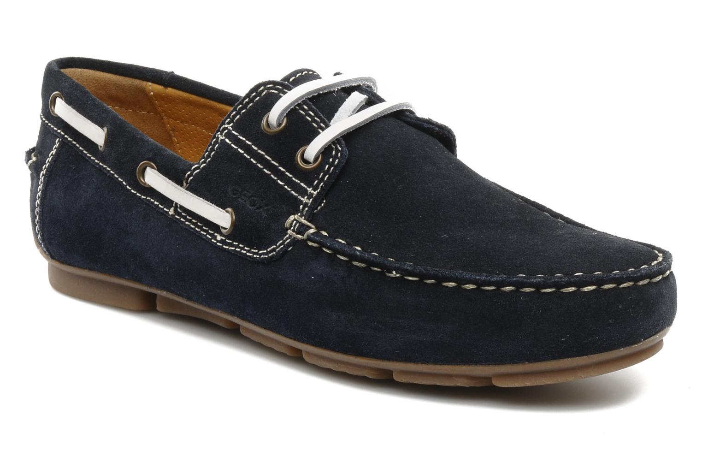 Chaussures à lacets Geox U lux B Bleu vue détail/paire