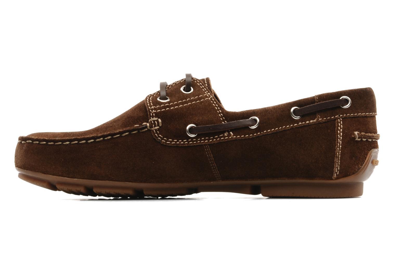 Chaussures à lacets Geox U lux B Marron vue face