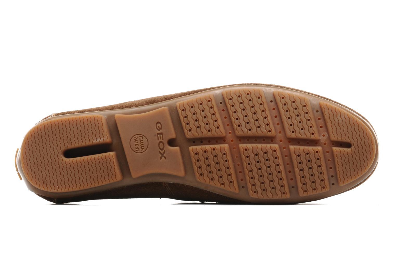 Chaussures à lacets Geox U lux B Marron vue haut