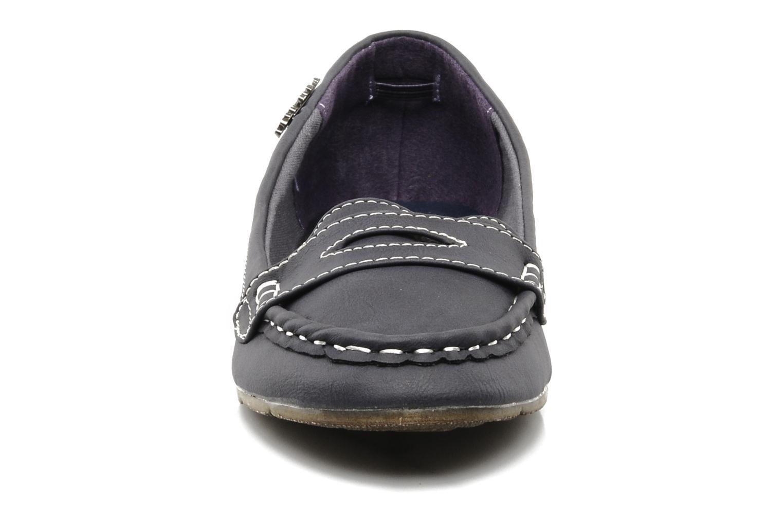 Mocassins Xti Matting Bleu vue portées chaussures