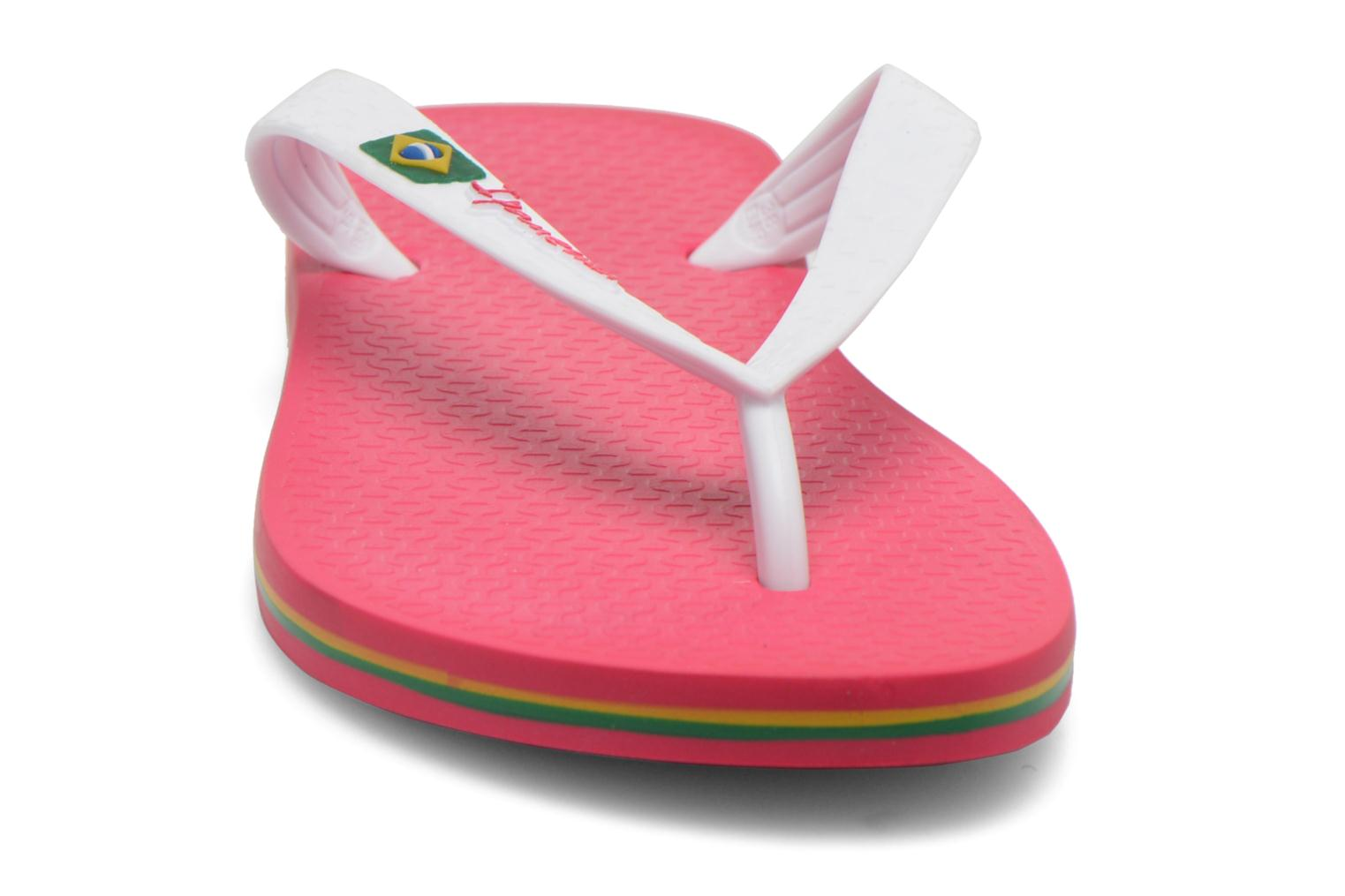 Tongs Ipanema Classica Brasil II f Rose vue portées chaussures