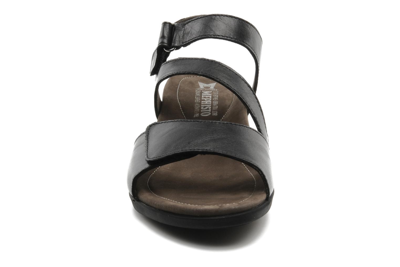 Sandales et nu-pieds Mephisto Pricila Noir vue portées chaussures