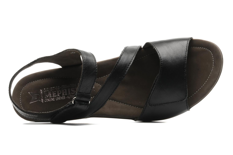 Sandales et nu-pieds Mephisto Pricila Noir vue gauche