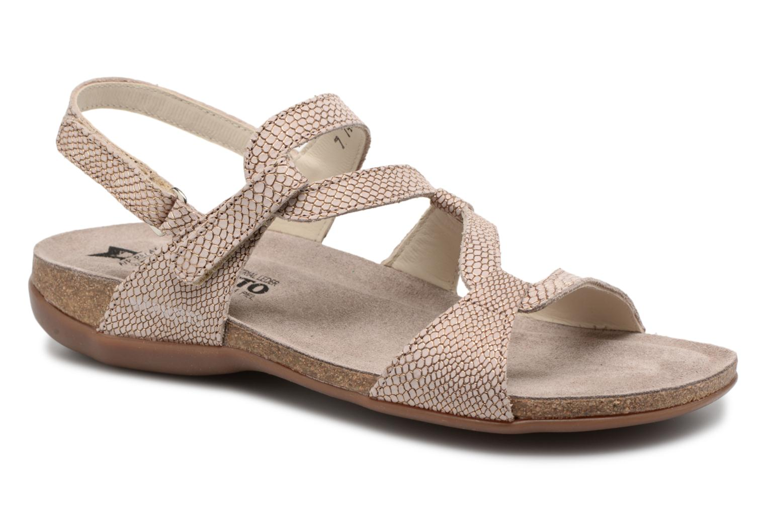 Sandals Mephisto Adelie Brown detailed view/ Pair view