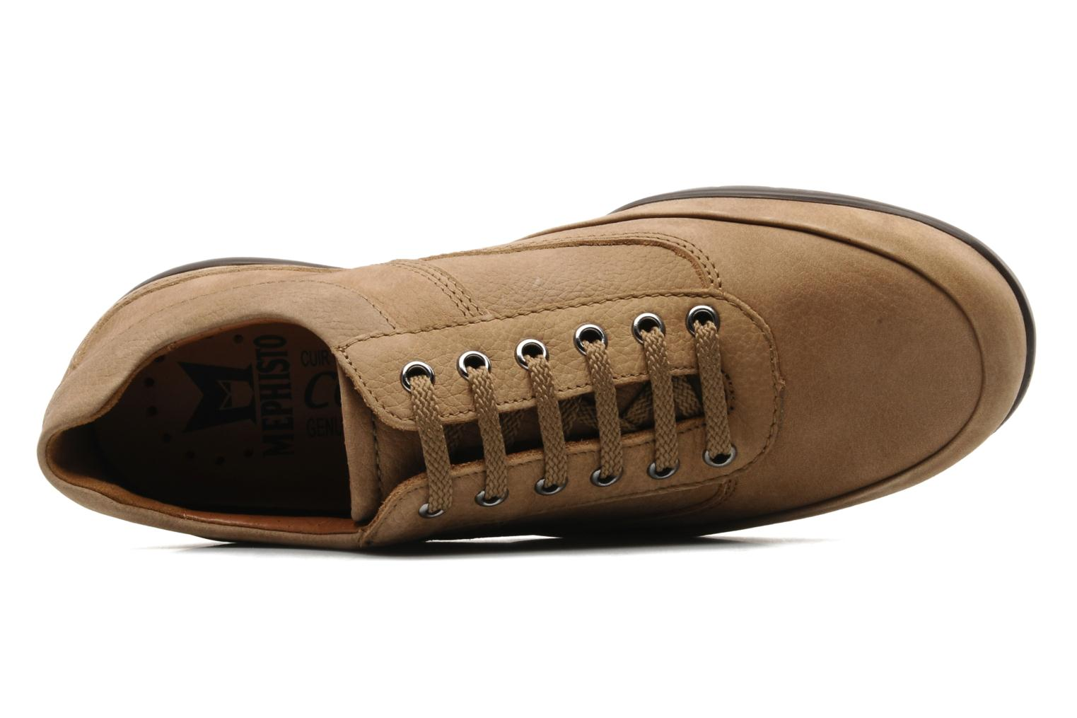 Lace-up shoes Mephisto Balek Beige view from the left