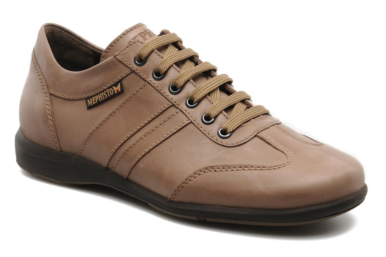 Chaussures à lacets Mephisto Balbo Beige vue détail/paire