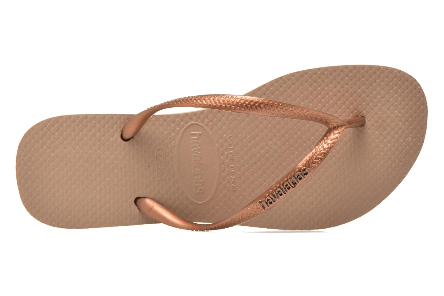 Slim Logo Metallic Rose Dark Copper