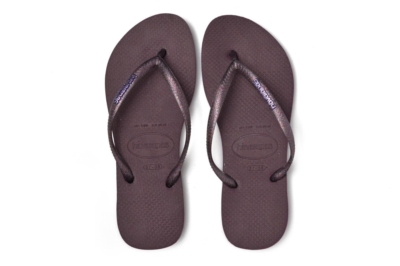 Slippers Havaianas Slim Logo Metallic Paars 3/4'
