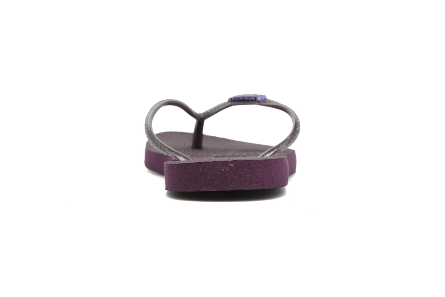 Flip flops Havaianas Slim Logo Metallic Purple view from the right