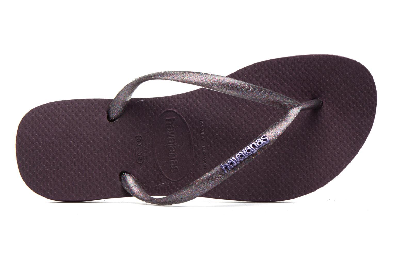 Slippers Havaianas Slim Logo Metallic Paars links
