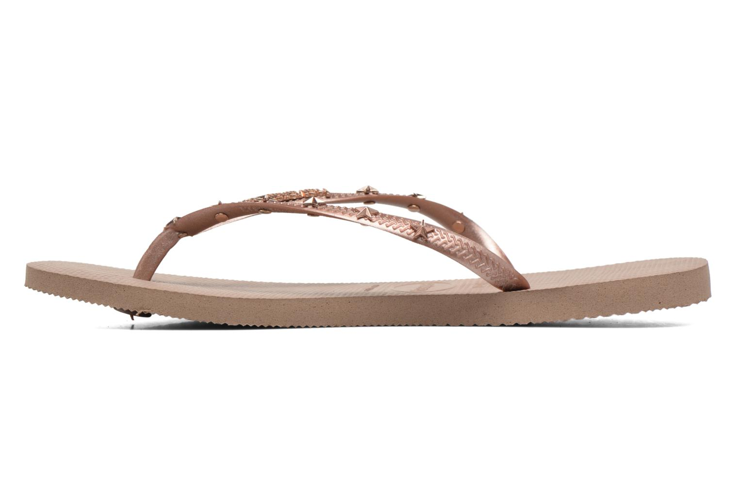 Tongs Havaianas Slim Hardware Or et bronze vue face