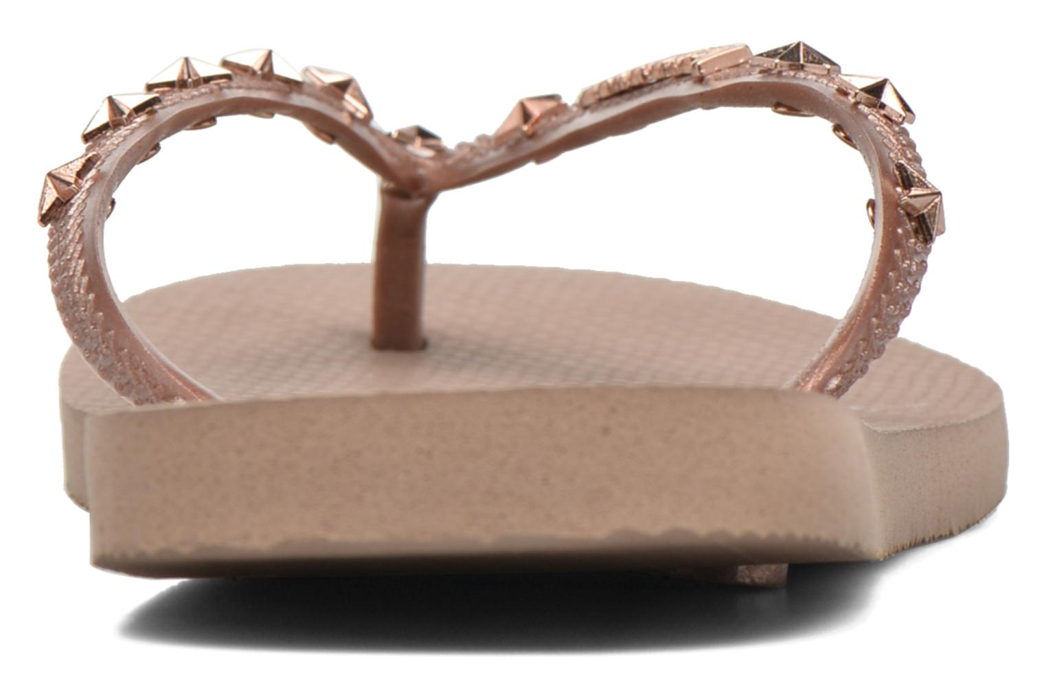 Flip flops Havaianas Slim Hardware Bronze and Gold view from the right