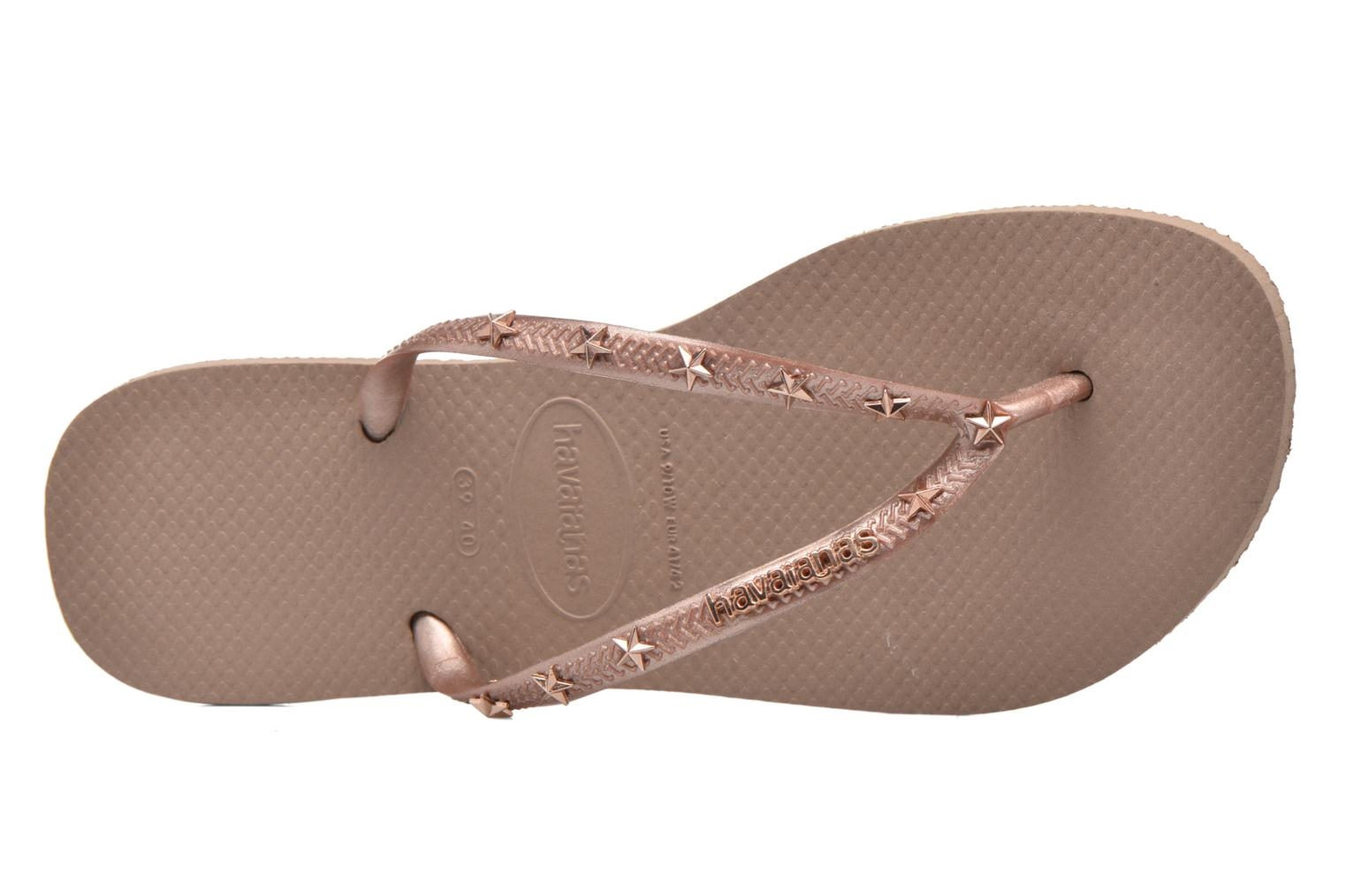 Flip flops Havaianas Slim Hardware Bronze and Gold view from the left