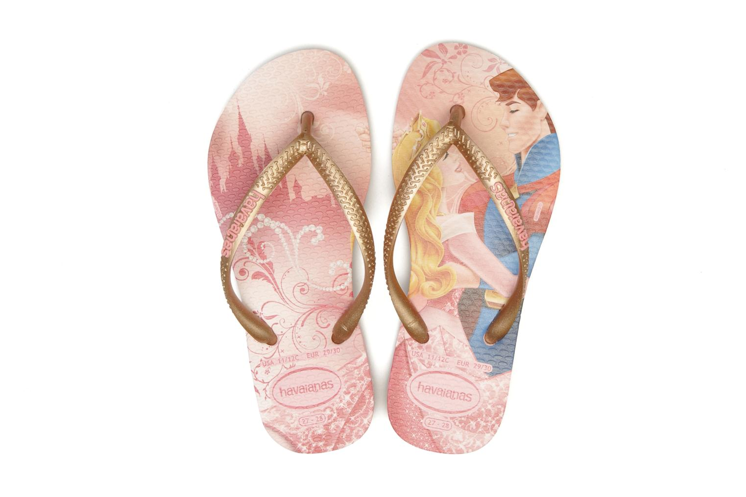 Flip flops Havaianas Kids Slim Princess Pink 3/4 view