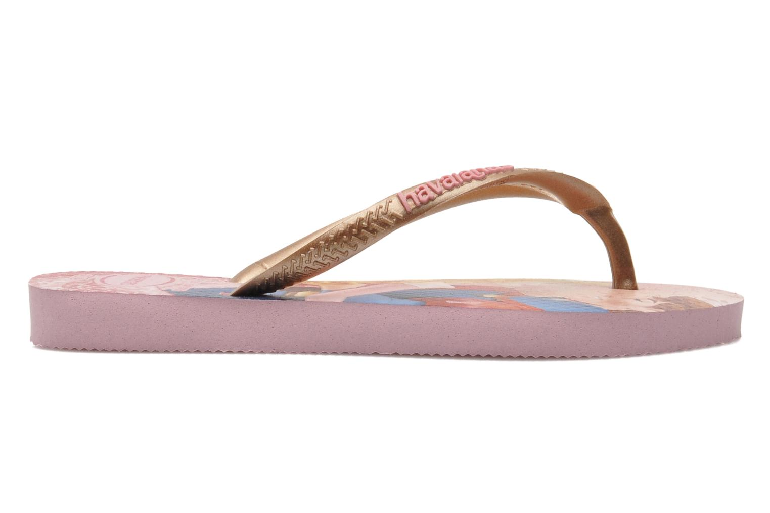Flip flops Havaianas Kids Slim Princess Pink back view