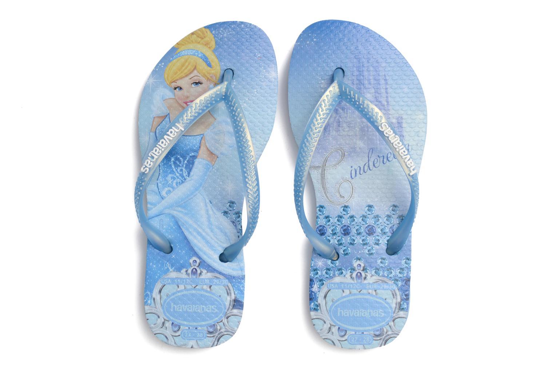 Tongs Havaianas Kids Slim Princess Bleu vue 3/4