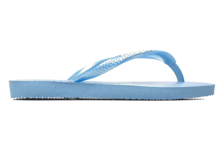 Slippers Havaianas Kids Slim Princess Blauw achterkant