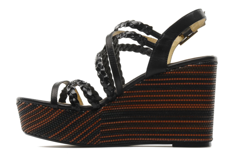 Sandales et nu-pieds Georgia Rose Sabrini Noir vue face