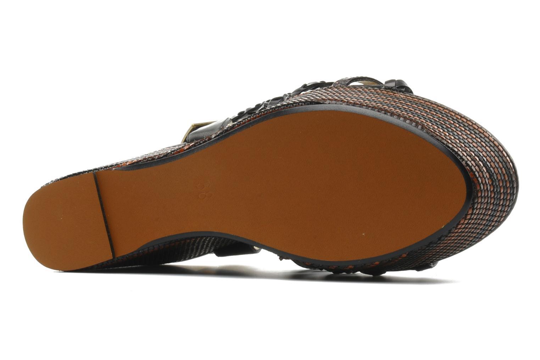 Sandales et nu-pieds Georgia Rose Sabrini Noir vue haut