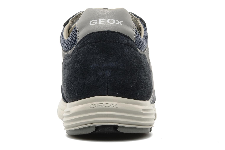 Baskets Geox U DYNAMIC M Bleu vue droite