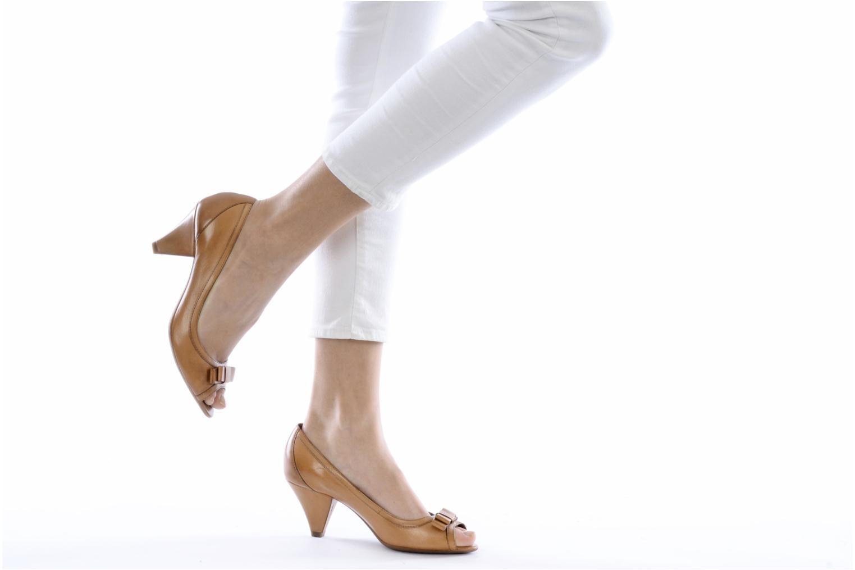 Zapatos de tacón Geox D Francia Z Marrón vista de abajo