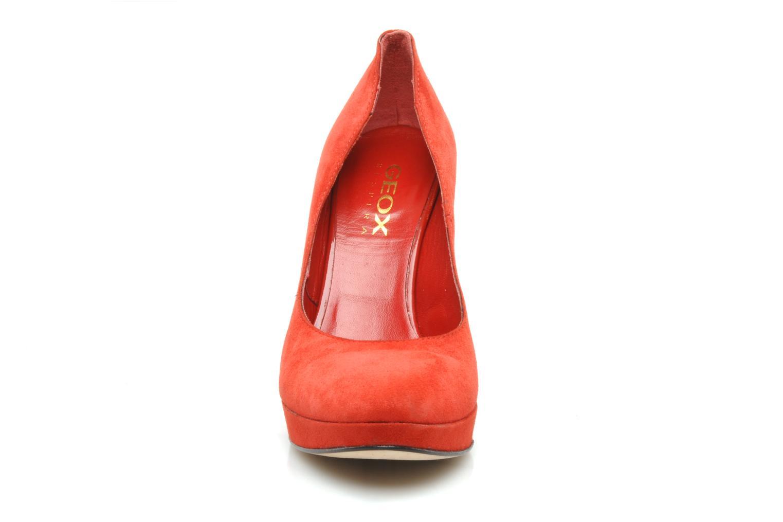Zapatos de tacón Geox D Mavis P Rojo vista del modelo