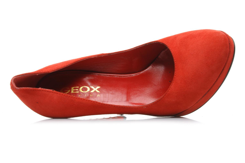 Zapatos de tacón Geox D Mavis P Rojo vista lateral izquierda
