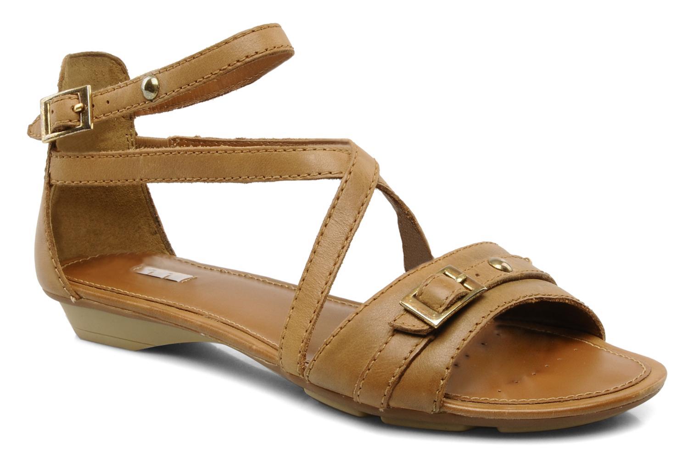 Sandals Geox D felisa d Brown detailed view/ Pair view