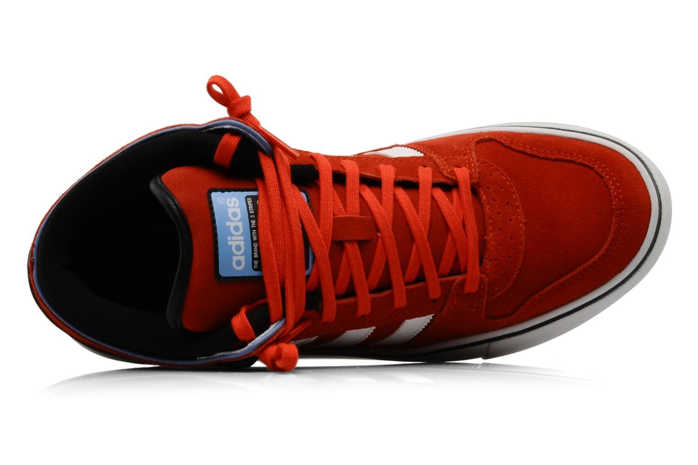 Baskets Adidas Originals Culver Vulc Mid Rouge vue gauche