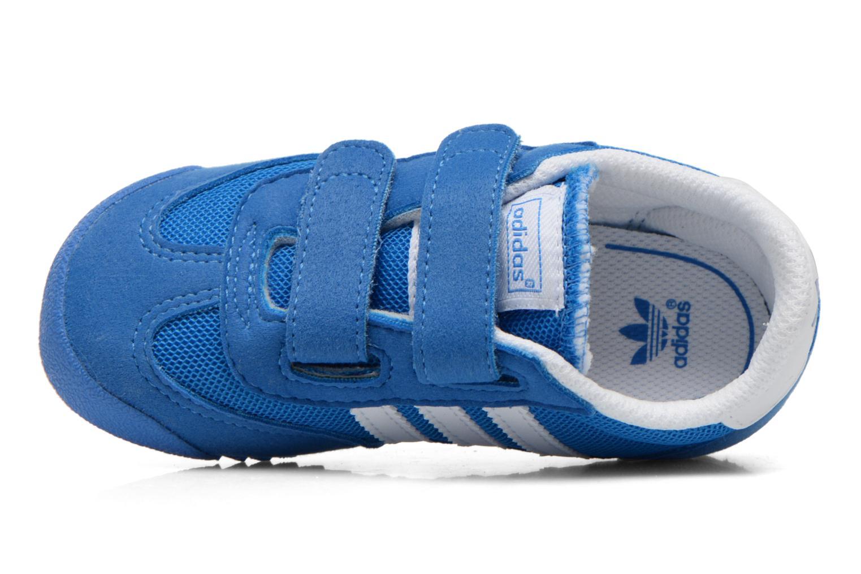 Sneaker Adidas Originals Dragon CF I blau ansicht von links