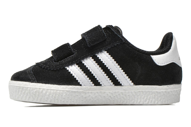 Sneaker Adidas Originals Gazelle 2 CF I schwarz ansicht von vorne