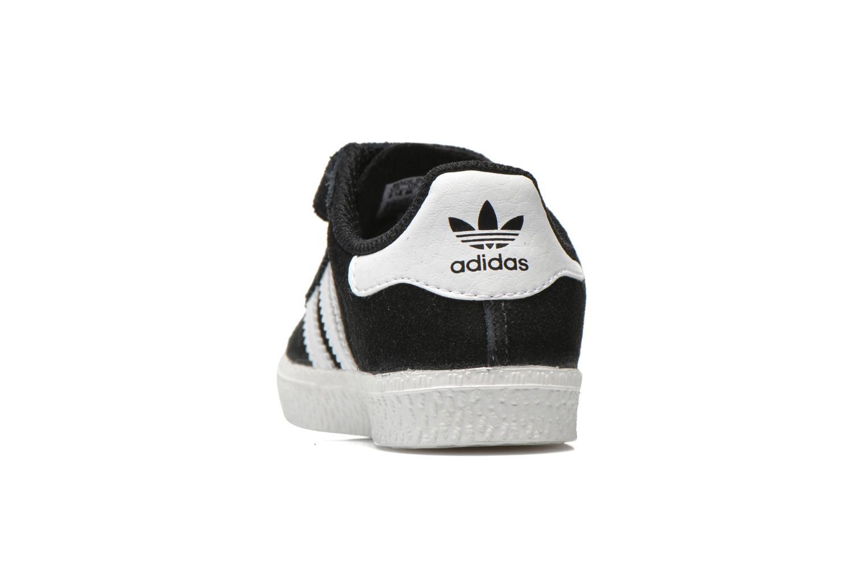Sneaker Adidas Originals Gazelle 2 CF I schwarz ansicht von rechts