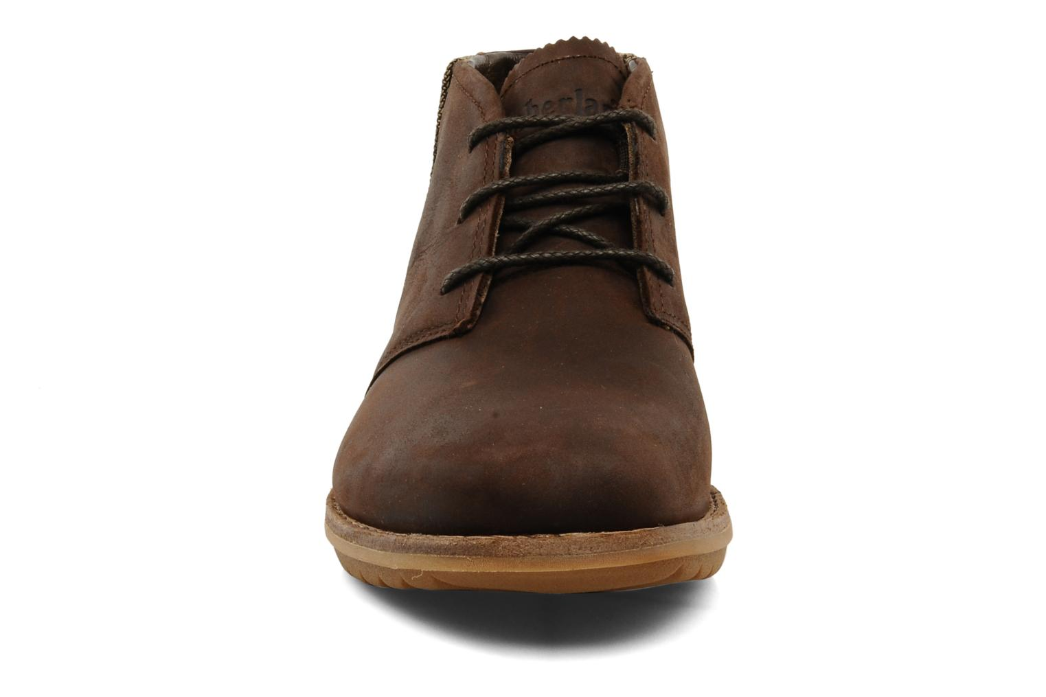 Chaussures à lacets Timberland Earthkeepers Front Country Travel Plain Toe Chukka Marron vue portées chaussures