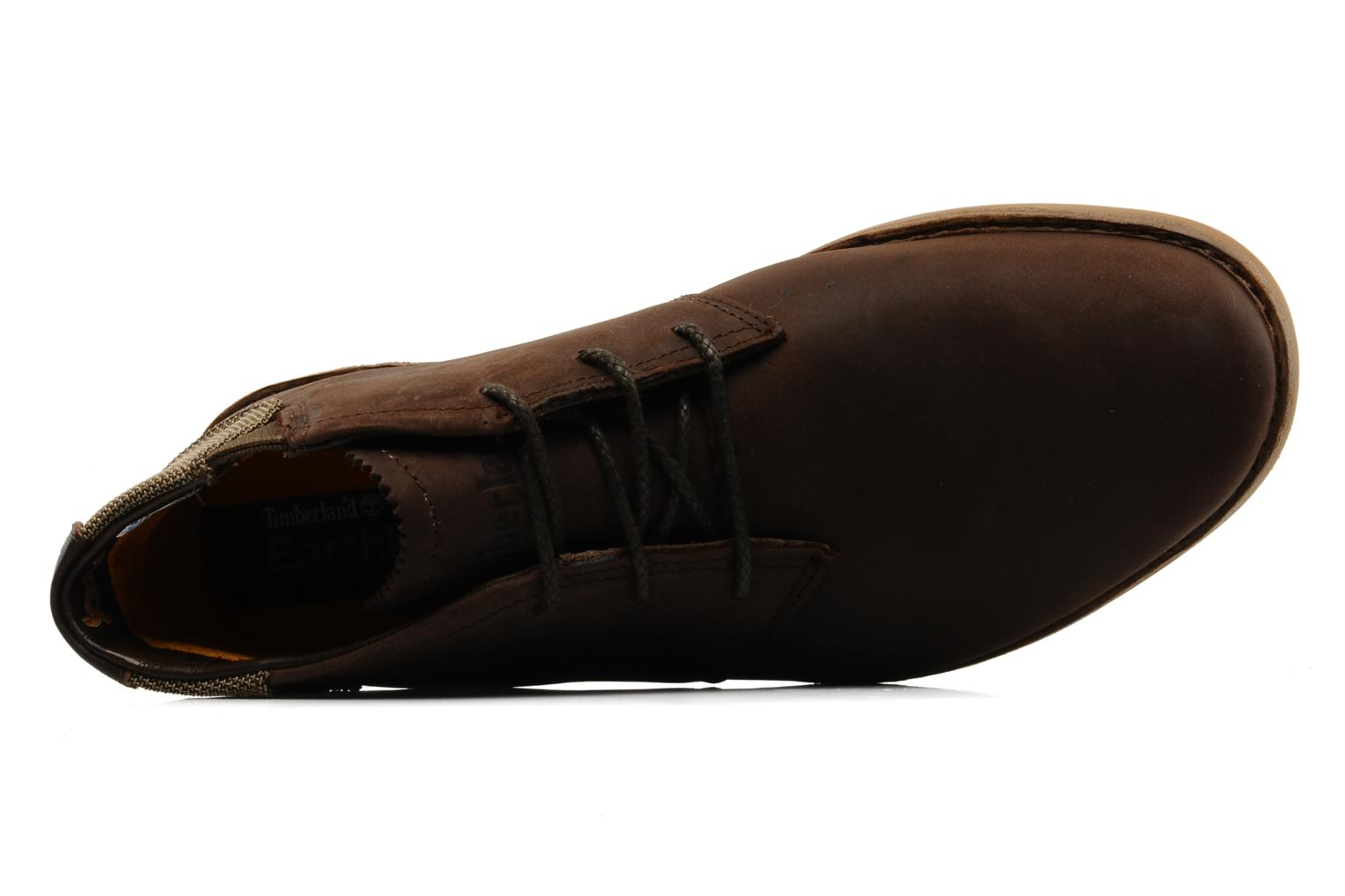 Chaussures à lacets Timberland Earthkeepers Front Country Travel Plain Toe Chukka Marron vue gauche