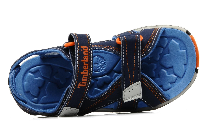 Sportschuhe Timberland Mad River 2-Strap Sandal blau ansicht von links