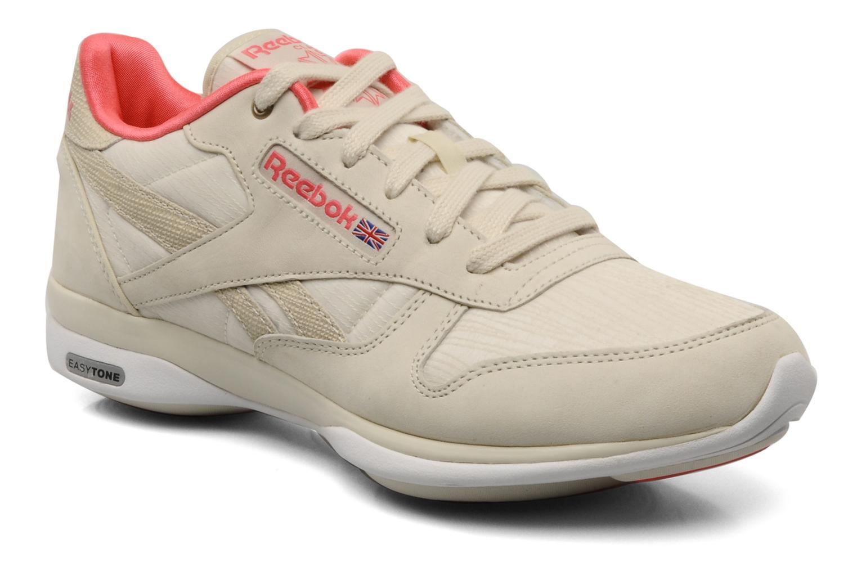 Chaussures de sport Reebok Easytone CL Leather Beige vue détail/paire