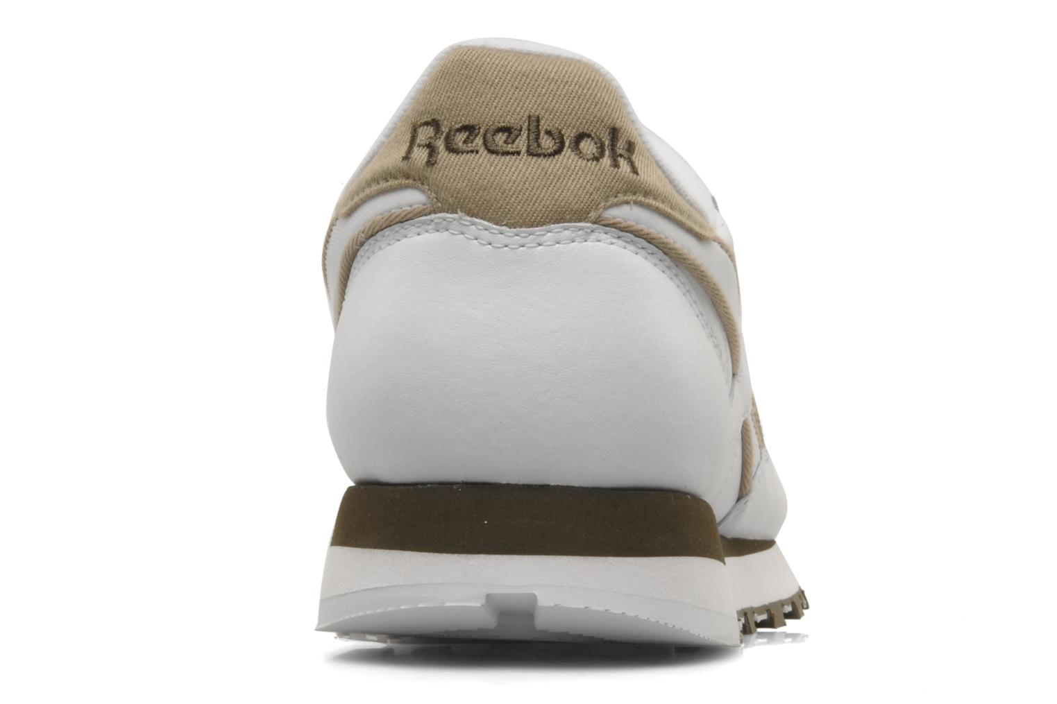 Trainers Reebok CL Leither Matl White view from the right