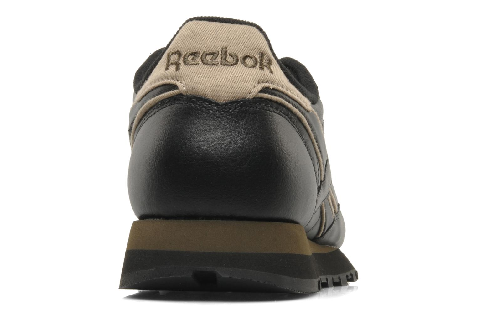 Sneakers Reebok CL Leither Matl Nero immagine destra