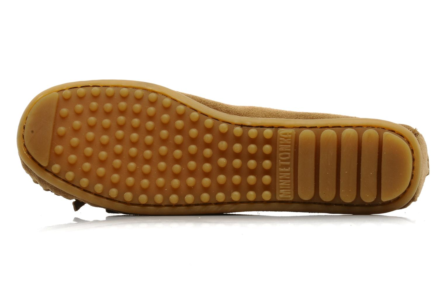 Loafers Minnetonka THUNDERBIRD 2 Beige view from above