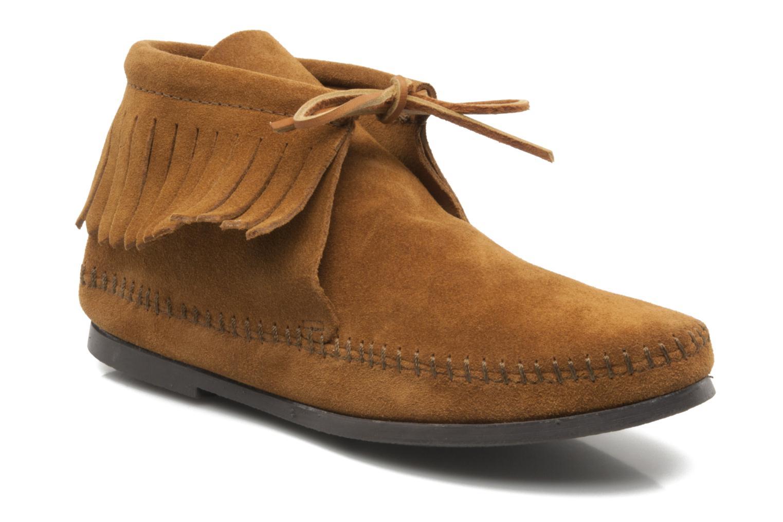 Bottines et boots Minnetonka CLASSIC FRINGE Marron vue détail/paire