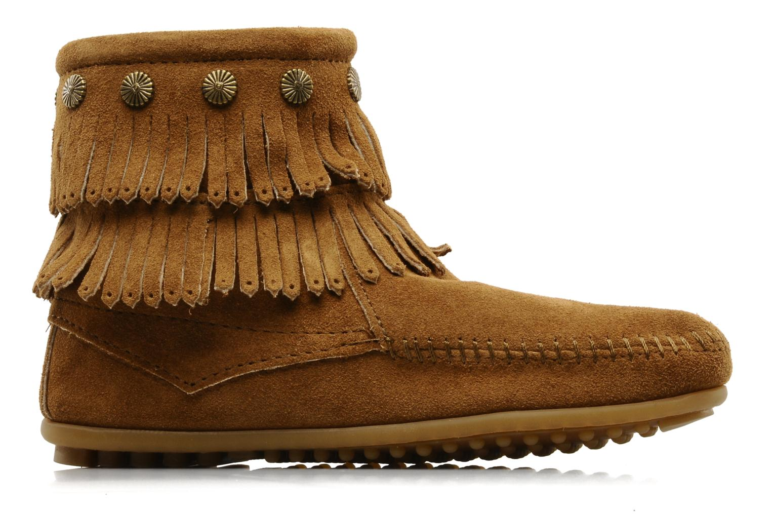 Ankle boots Minnetonka DOUBLE FRINGE BT Brown back view