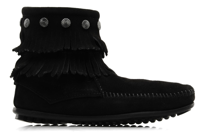 Ankle boots Minnetonka DOUBLE FRINGE BT Black back view