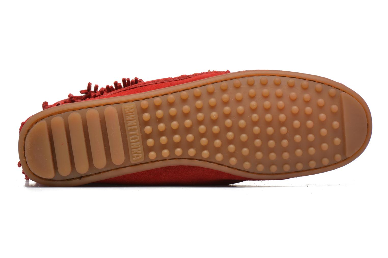 Boots en enkellaarsjes Minnetonka DOUBLE FRINGE TRAMPER Rood boven