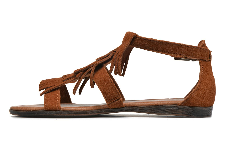 Sandales et nu-pieds Minnetonka Maui Marron vue face